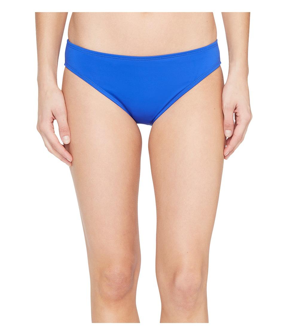 La Blanca Island Goddess Solid Hipster Bottom Sapphire Swimwear