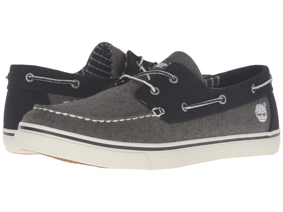 Timberland - Newmarket Boat Oxford (Grey) Men's Lace up casual Shoes