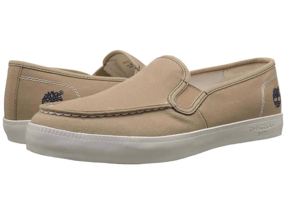 Timberland - Newport Bay Canvas Moc Toe Slip-On (Tan) Men's Slip on Shoes