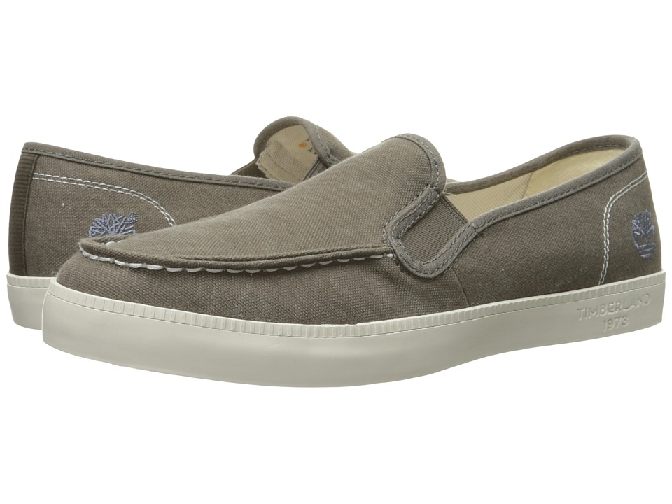 Timberland - Newport Bay Canvas Moc Toe Slip-On (Olive) Men's Slip on Shoes