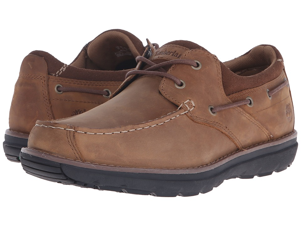 Timberland - Barrett 2 Eye Boat (Brown) Men's Shoes