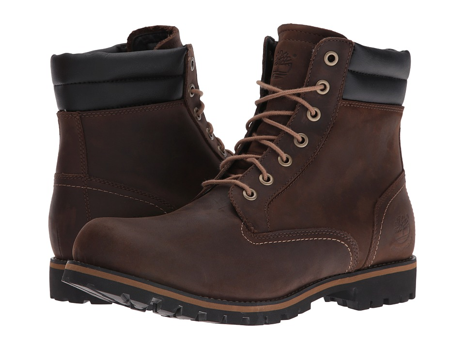Timberland - Foraker 6 in WP Boot (Dark Brown) Men's Boots