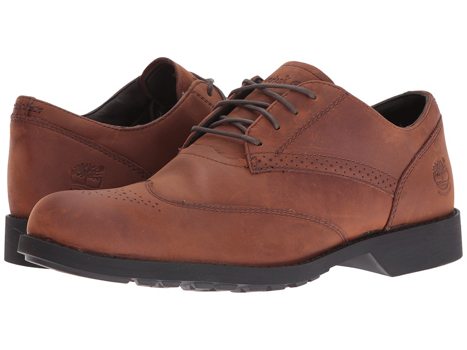 Timberland - Fitchburg WP Wing Tip Oxford (Medium Brown) Men's Lace Up Wing Tip Shoes