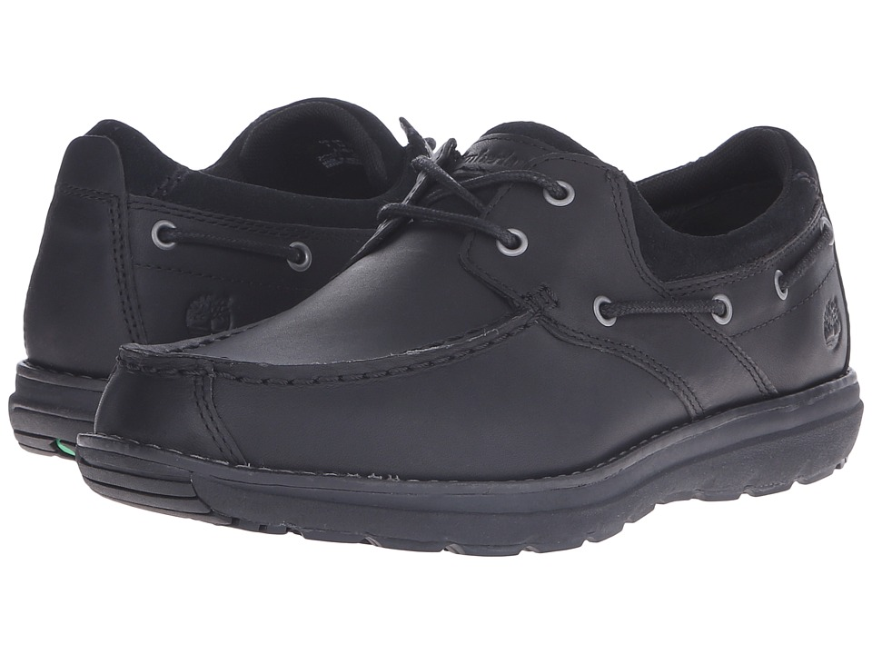 Timberland - Barrett 2 Eye Boat (Black) Men's Shoes