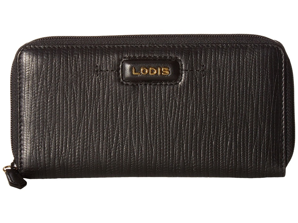 Lodis Accessories - Cordoba Ada Zip Wallet (Black) Wallet Handbags