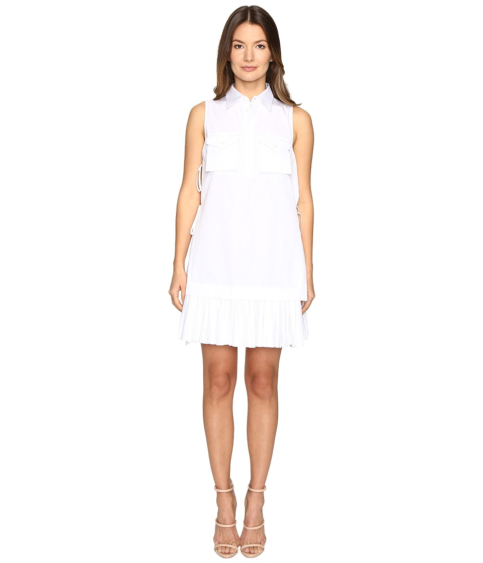 DSQUARED2 - Open Sides Military Chemisier Dress (White) Women's Dress