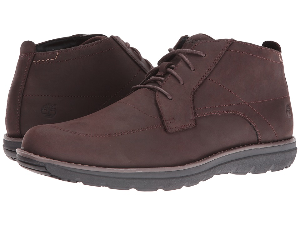 Timberland - Barrett Park Plain Toe Chukka (Dark Brown) Men's Boots