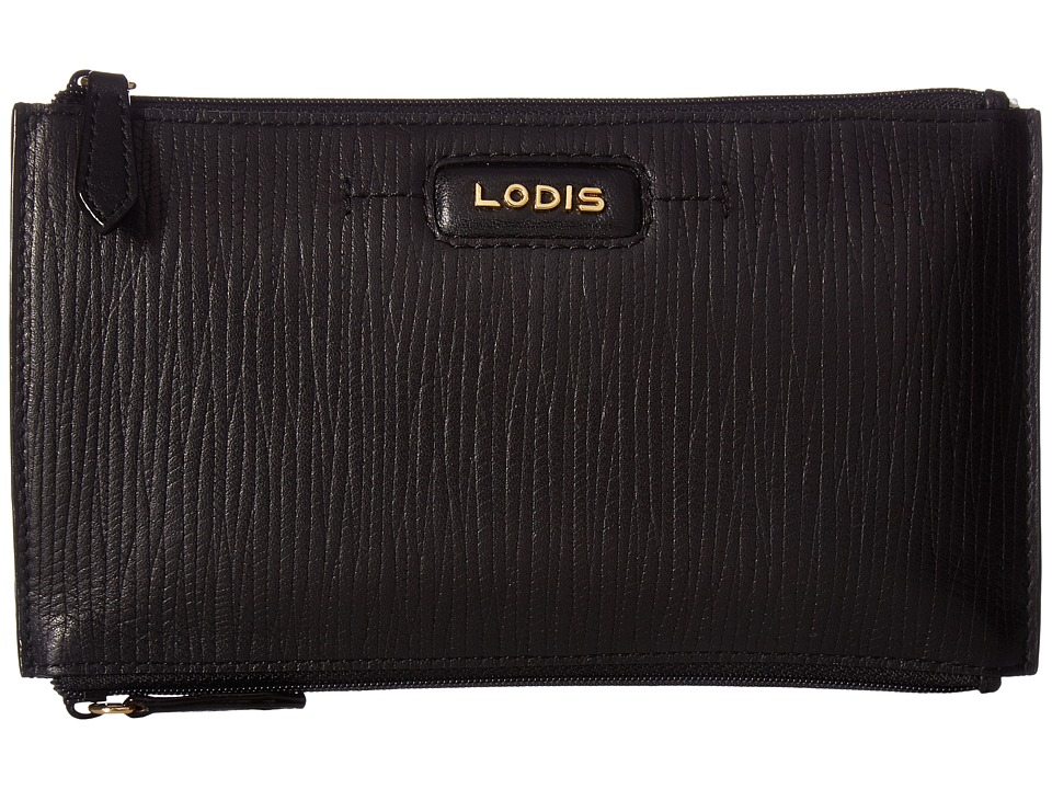 Lodis Accessories - Cordoba Lani Double Zip Pouch (Black) Travel Pouch