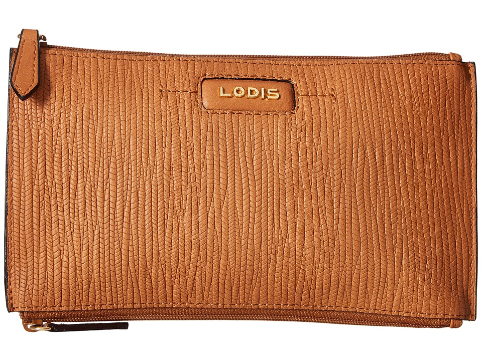 Lodis Accessories - Cordoba Lani Double Zip Pouch (Toffee) Travel Pouch