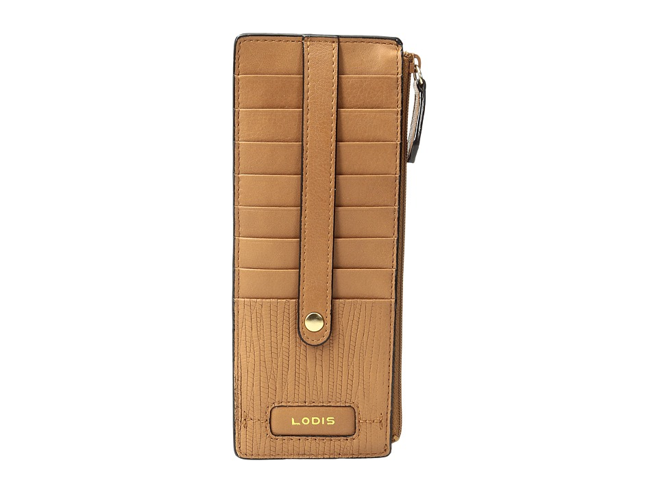 Lodis Accessories - Cordoba Credit Card Case with Zipper Pocket (Toffee) Credit card Wallet