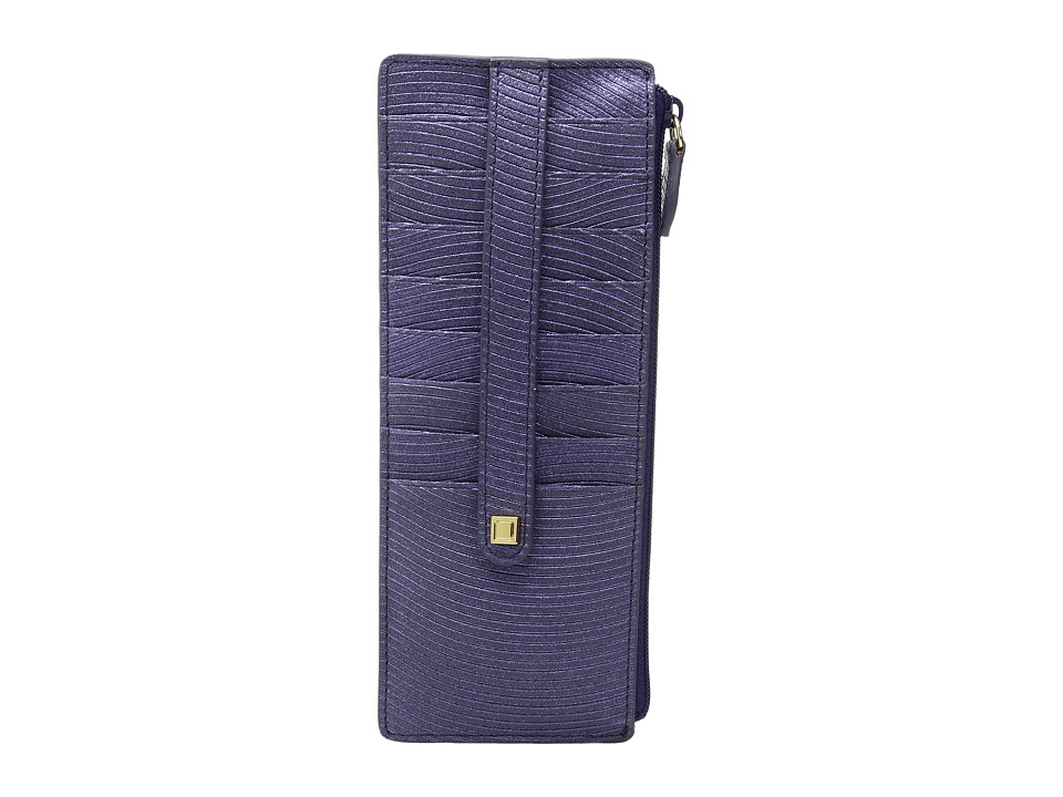 Lodis Accessories - Vanessa Variety Credit Card Case with Zipper Pocket (Purple) Credit card Wallet