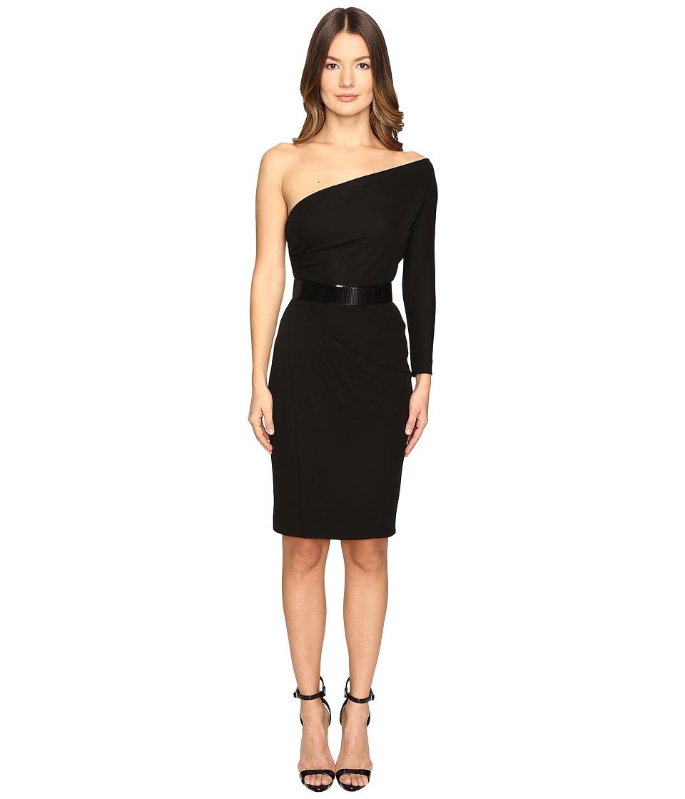 DSQUARED2 Viscose One Shoulder Long Sleeve Crepe Dress