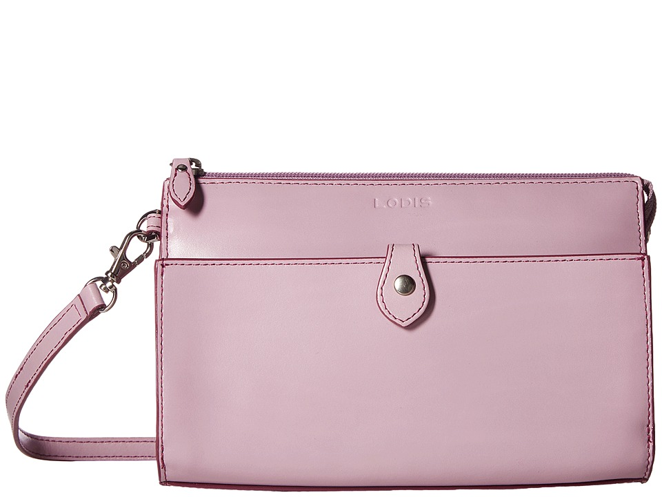 Lodis Accessories - Audrey Vicky Convertible Crossbody Clutch (Iced Violet/Beet) Clutch Handbags