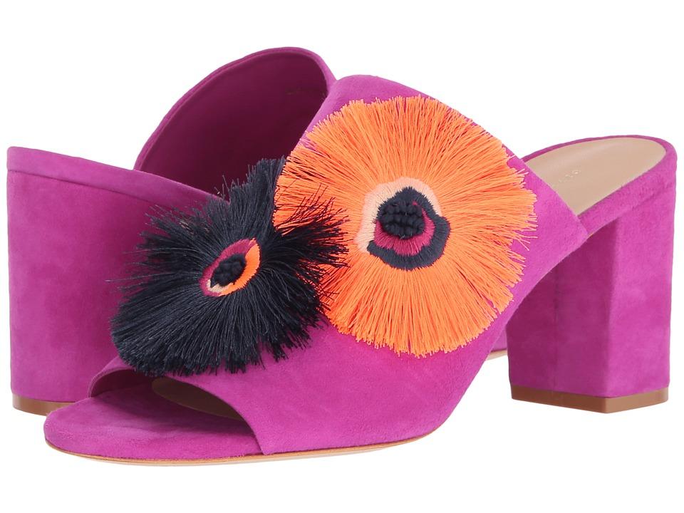 Loeffler Randall - Clo (Azalea Kid Suede/Floral Embroidery) Women's Clog/Mule Shoes