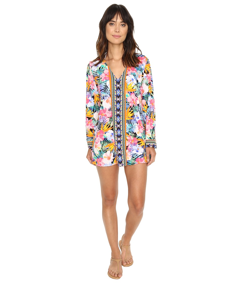 La Blanca - Tropicali V-Neck Tunic Cover-Up (Multi) Women's Swimwear