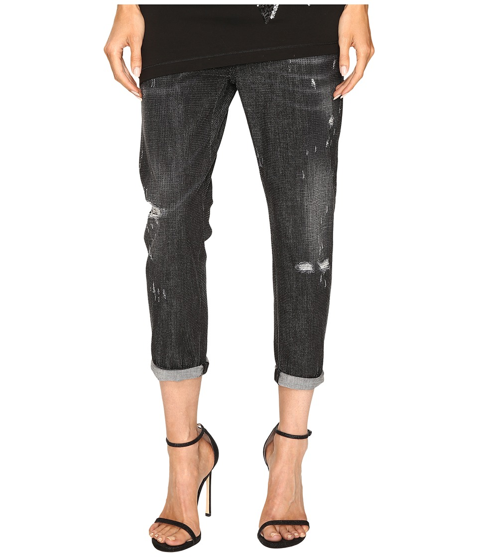 DSQUARED2 - Cool Girl Cropped Jeans in Sparkle Wash (Black) Women's Jeans