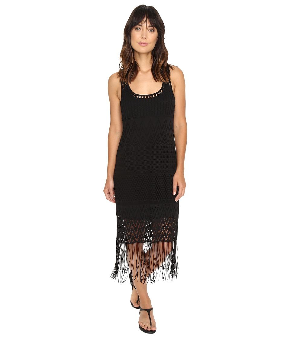 La Blanca Crystal Cove Crotchet Tank Dress Cover-Up (Black) Women