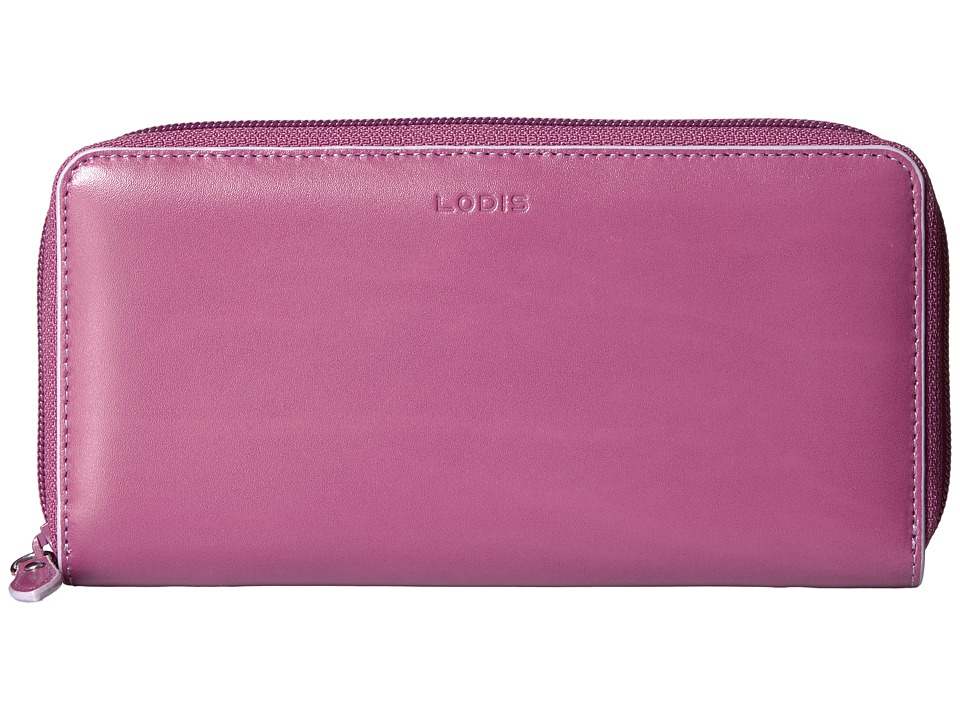 Lodis Accessories - Audrey Ada Zip Wallet (Beet/Iced Violet) Wallet Handbags