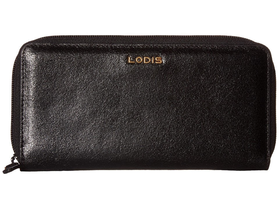 Lodis Accessories - Vanessa Variety Ada Zip Wallet (Black) Wallet Handbags