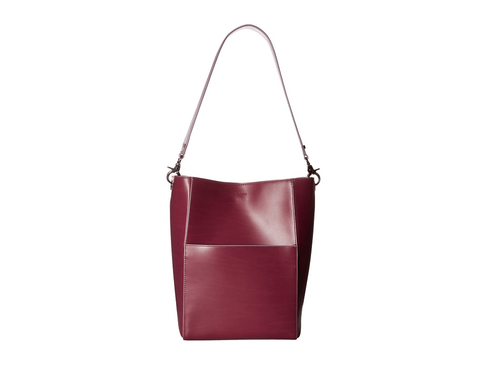 Lodis Accessories - Audrey Berta Bucket Bag (Beet/Iced Violet) Bags