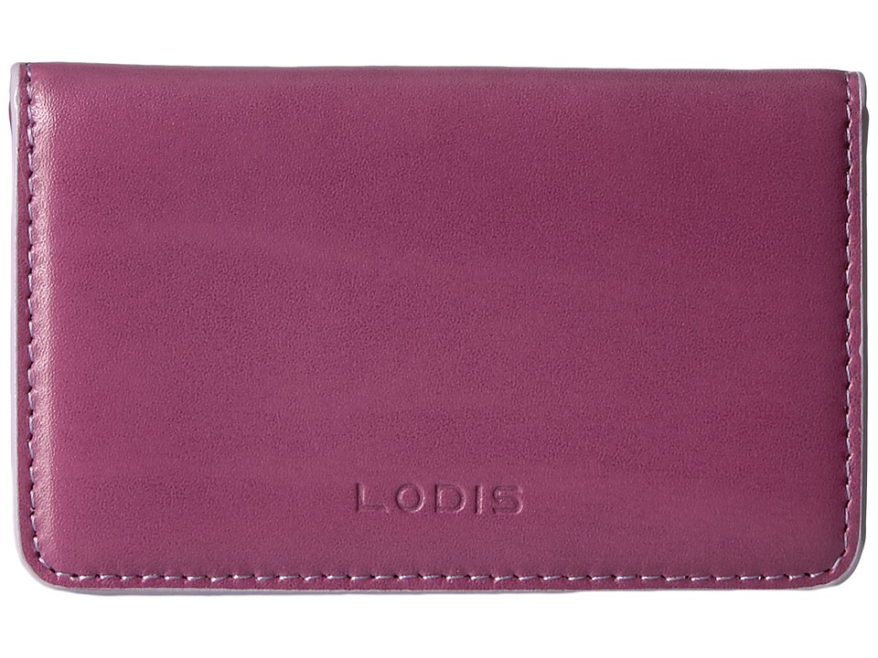 Lodis Accessories - Audrey Mini Card Case (Beet/Iced Violet) Credit card Wallet
