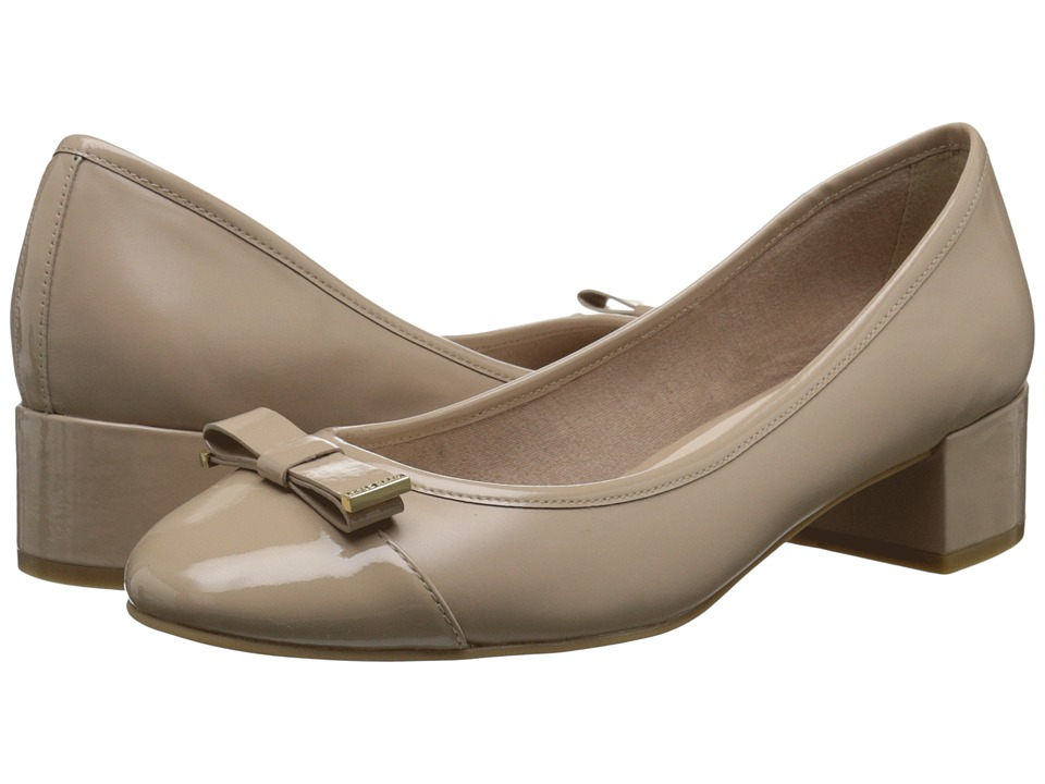 Cole Haan - Kelsey Waterproof Block Heel Pump (Maple Sugar Patent) Women's 1-2 inch heel Shoes