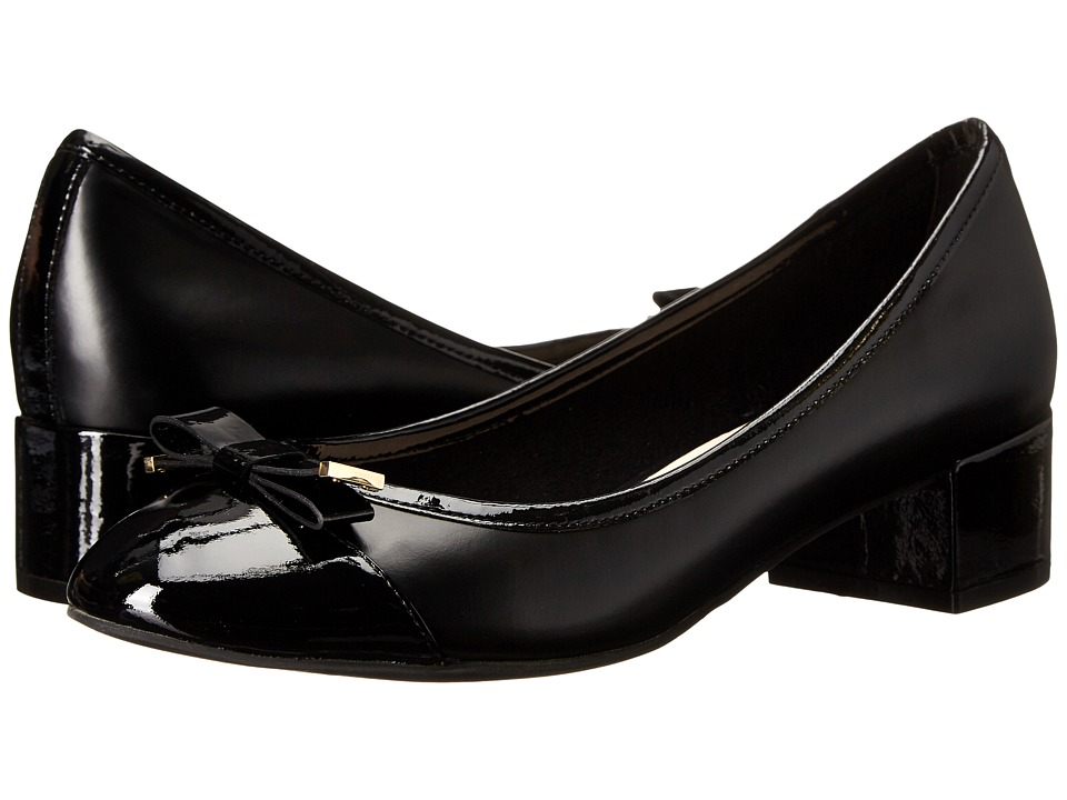 Cole Haan - Kelsey Waterproof Block Heel Pump (Black Patent) Women's 1-2 inch heel Shoes