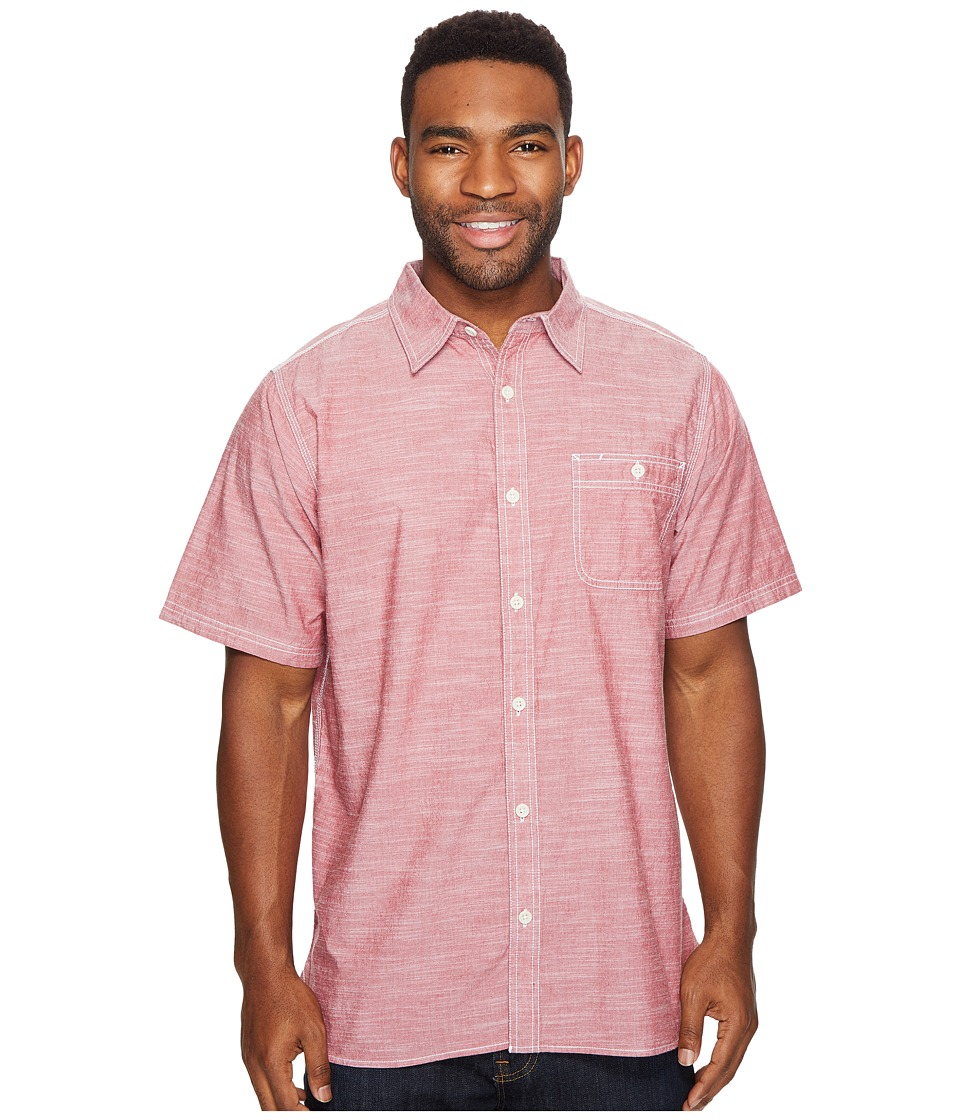 Mountain Khakis - Mountain Chambray S/S Shirt (Garnet) Men's T Shirt