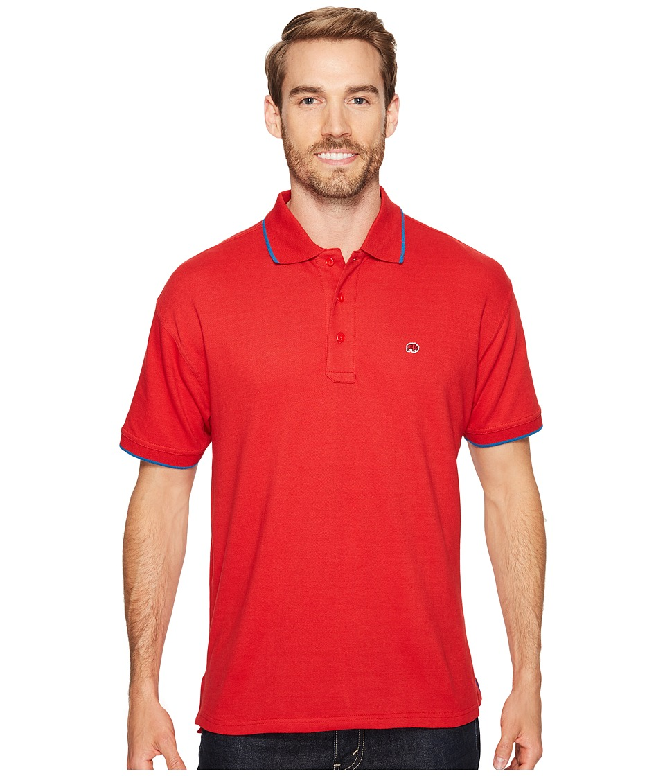 Mountain Khakis - Bison Polo Shirt (Engine Red) Men's Clothing