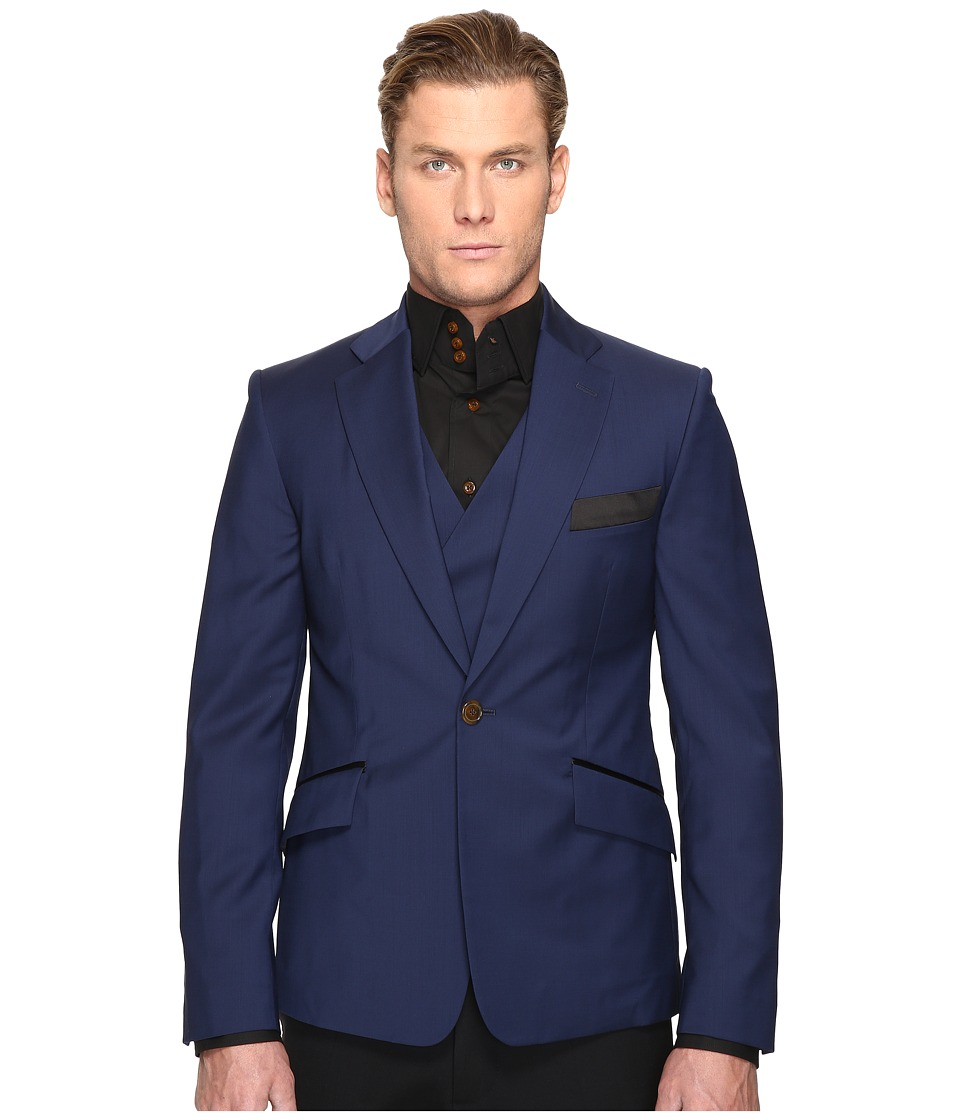 Vivienne Westwood - Evening Waistcoat Blazer (Navy) Men's Jacket