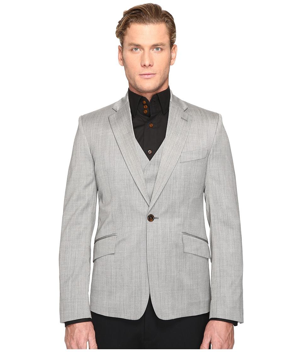 Vivienne Westwood - Basic Wool Waistcoat Blazer (Grey) Men's Jacket