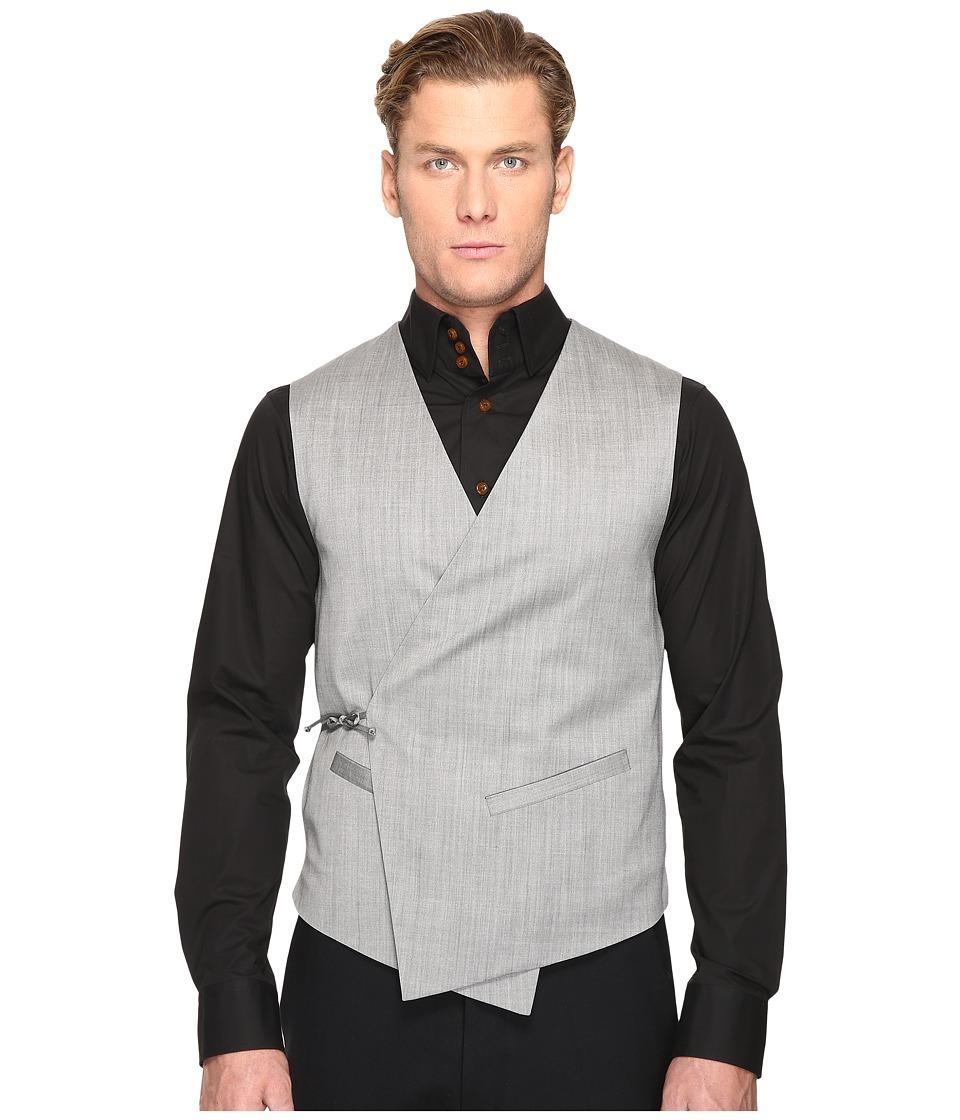 Vivienne Westwood - Tied Wool Waistcoat (Grey) Men's Vest