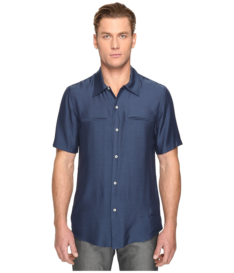 Vivienne Westwood - Washed Silk Rattle Shirt (Blue) Men's Clothing