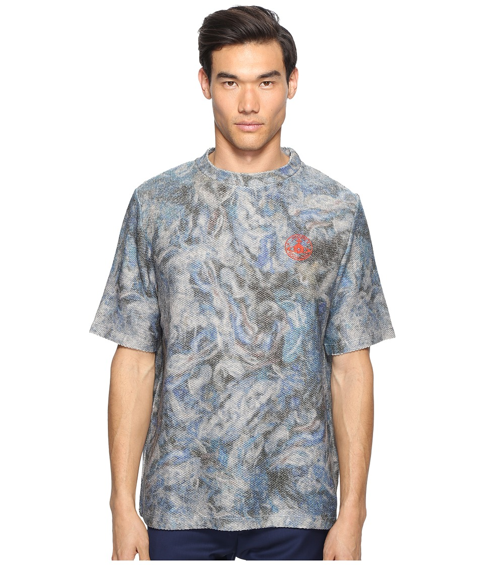 Vivienne Westwood - Military Mess T-Shirt (Blue Print) Men's T Shirt