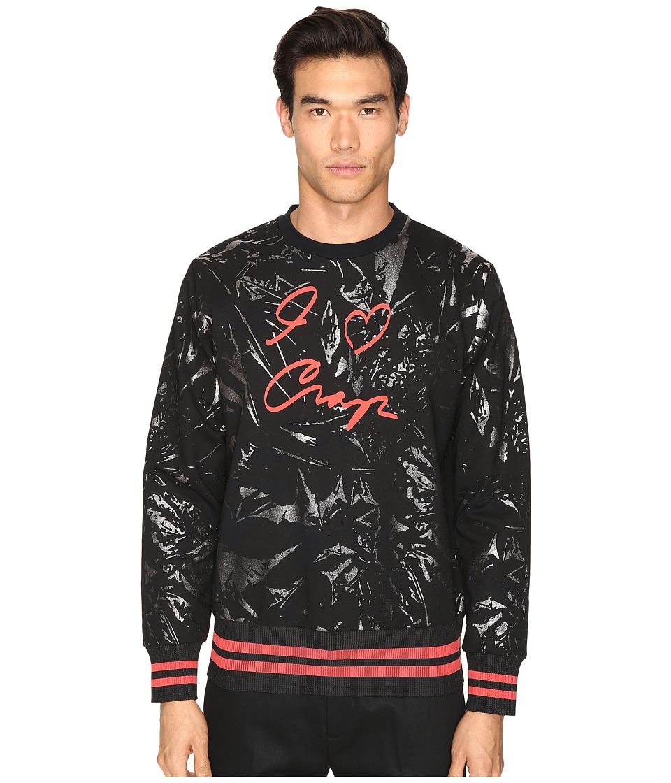 Vivienne Westwood - I Love Crop Sweatshirt (Black) Men's Sweatshirt
