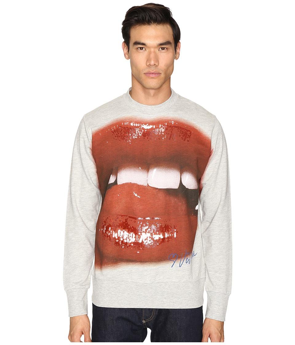 Vivienne Westwood - Lips Print Sweatshirt (Grey) Men's Sweatshirt