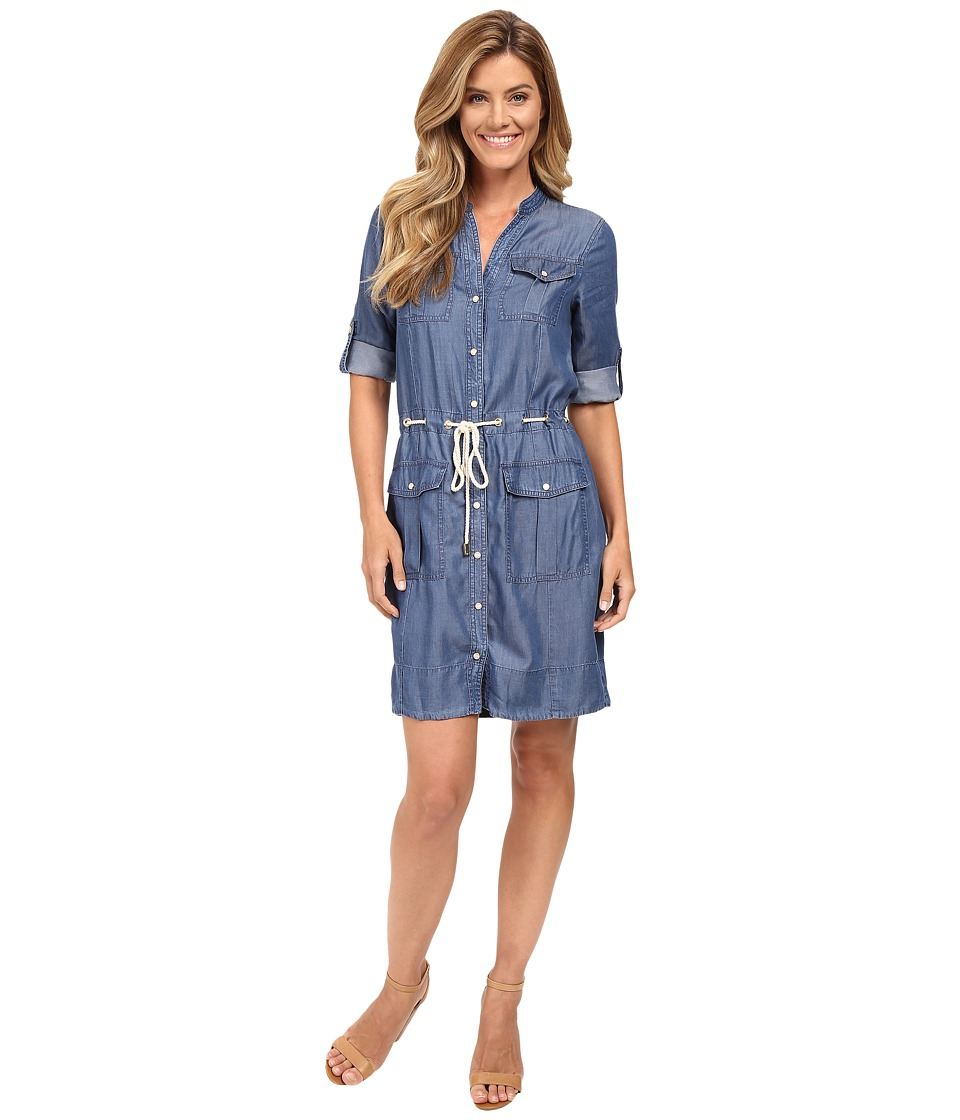 MICHAEL Michael Kors - Denim Drawstring Dress (Indigo) Women's Dress