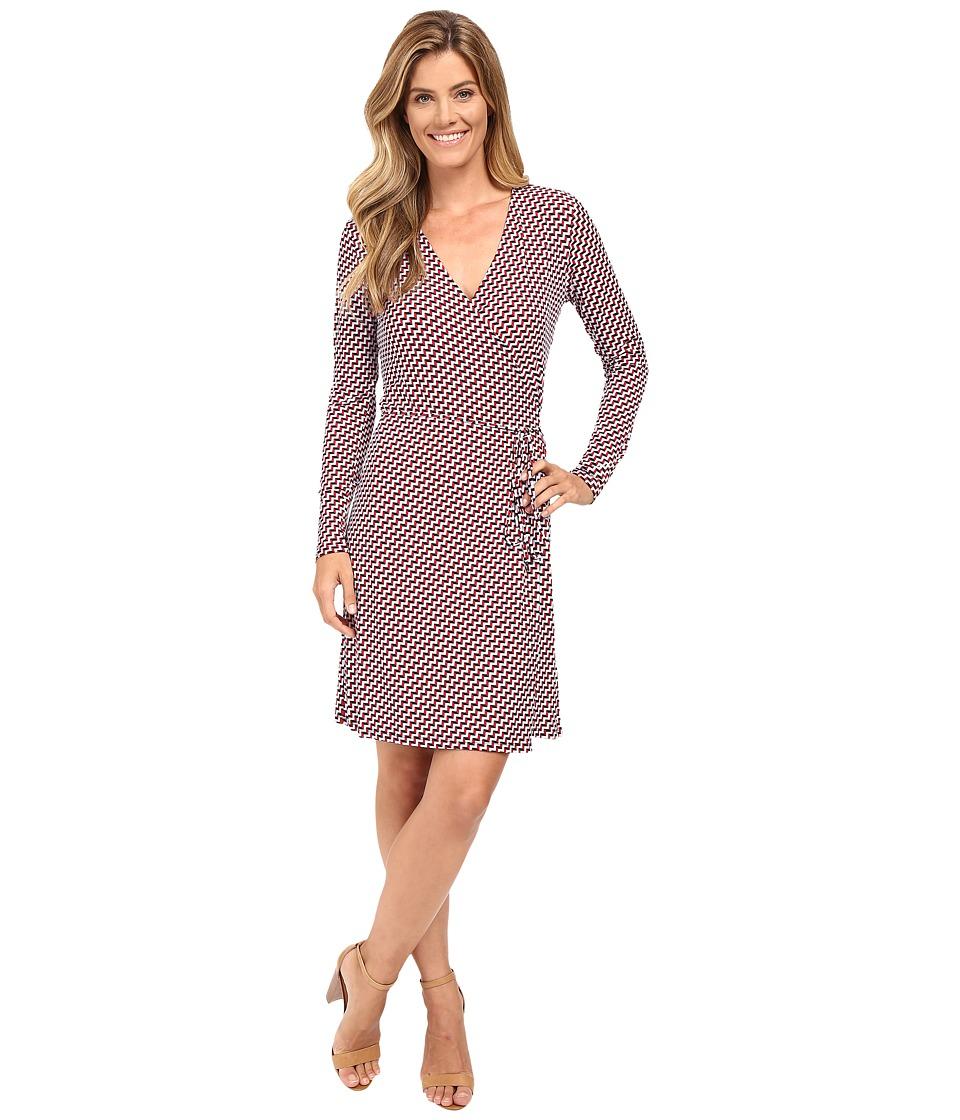 MICHAEL Michael Kors - Esher Matte Jersey Wrap Dress (Shore Blue) Women's Dress
