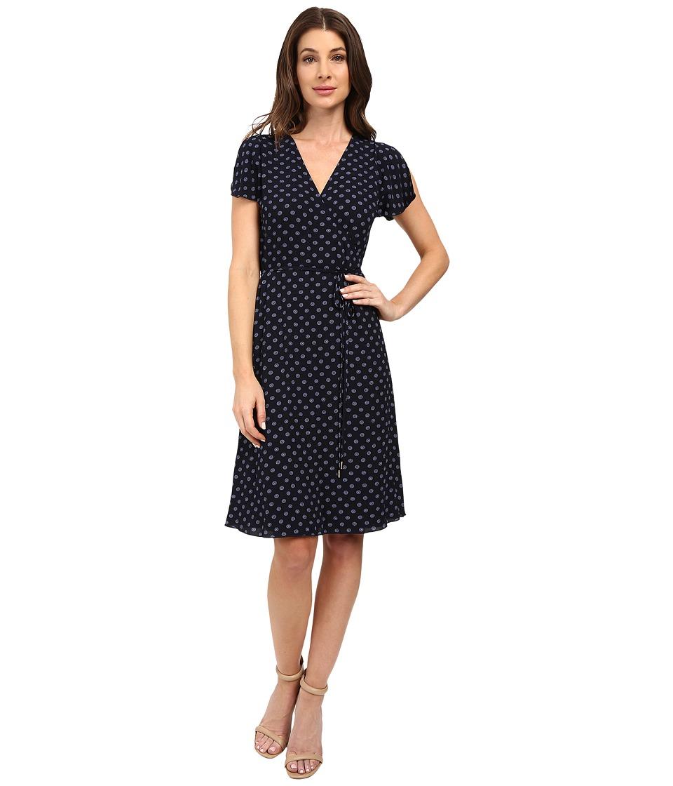 MICHAEL Michael Kors - Whitefield Wrap Dress (New Navy) Women's Dress