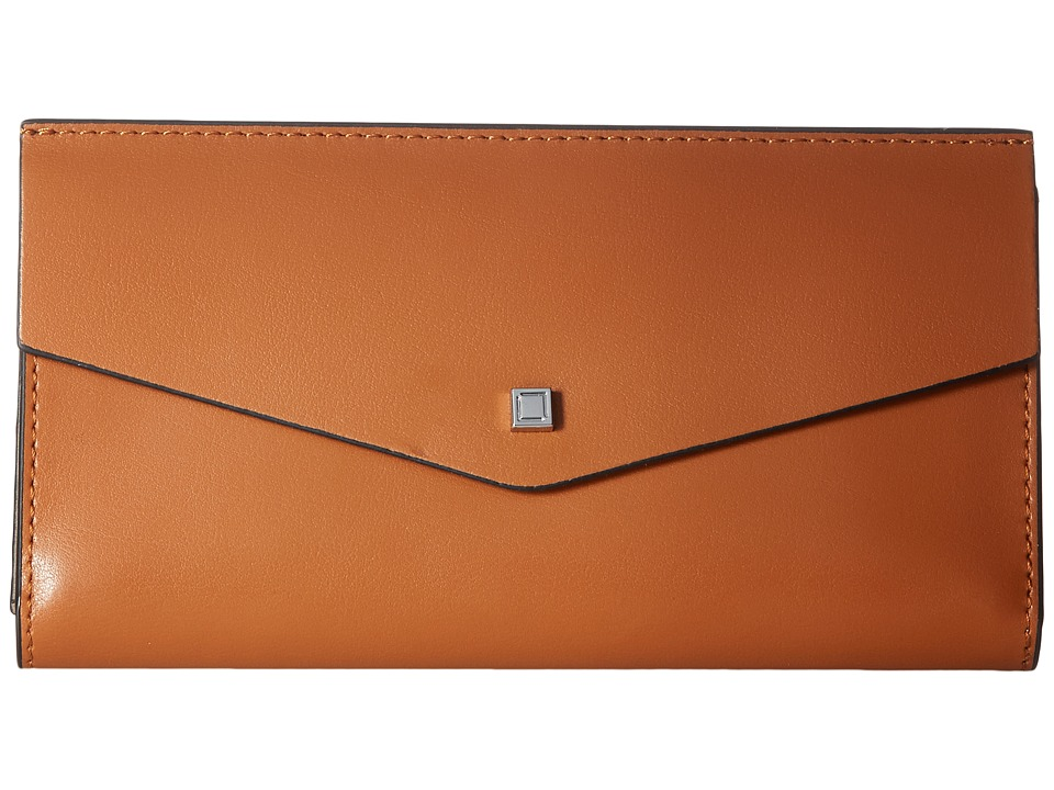 Lodis Accessories - Blair Amanda Continental Clutch (Toffee/Taupe) Clutch Handbags