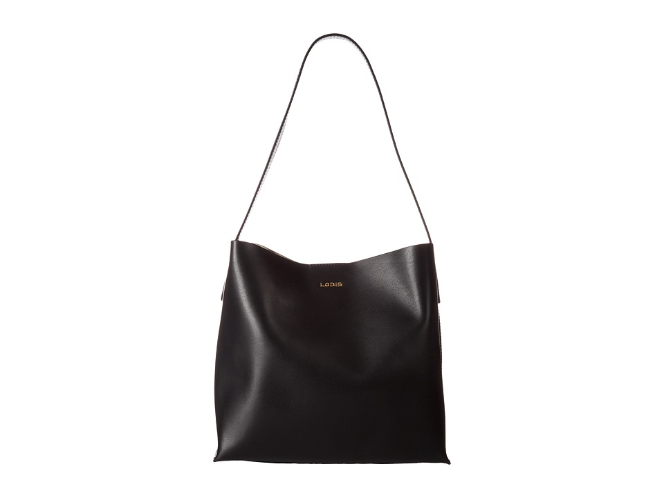 Lodis Accessories - Blair Addy Bucket (Black/Taupe) Tote Handbags