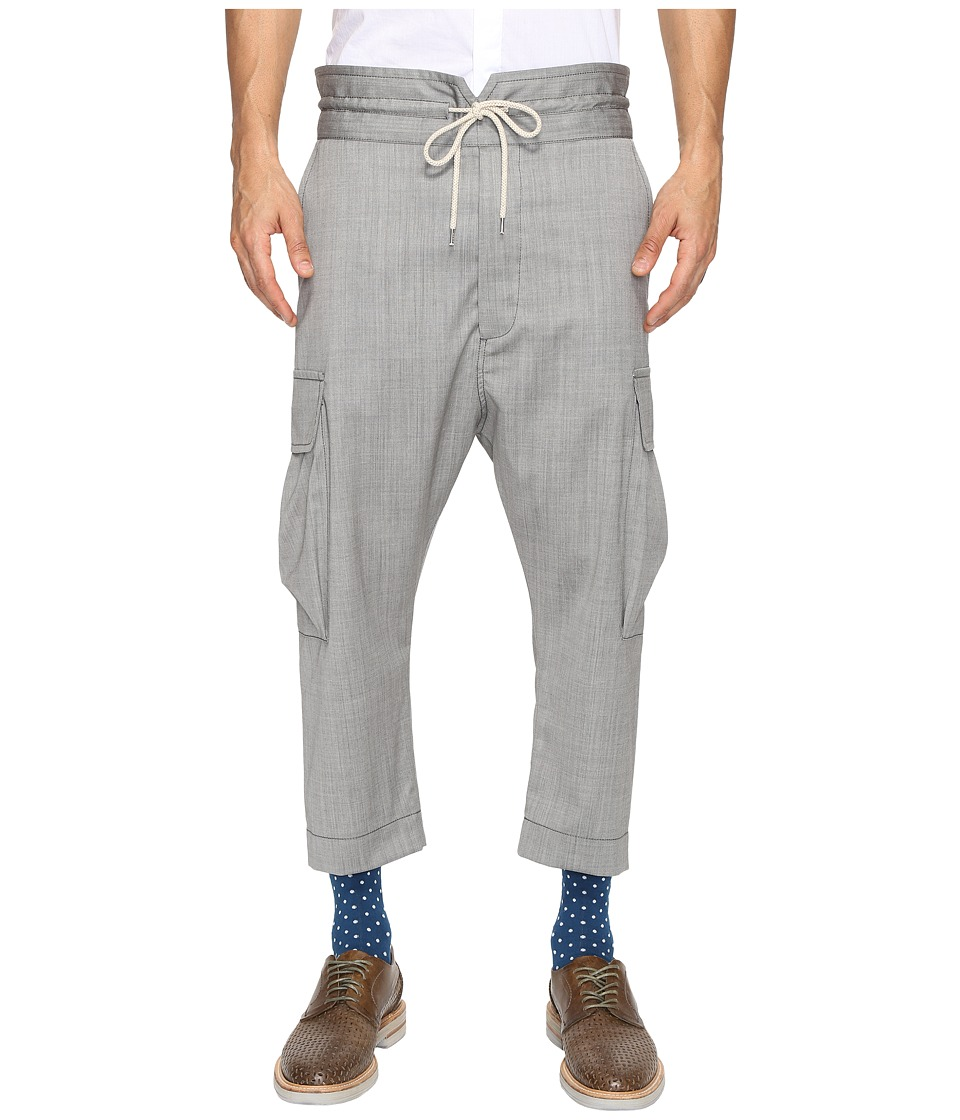 Vivienne Westwood - Basic Wool Samurai Trousers (Grey) Men's Casual Pants