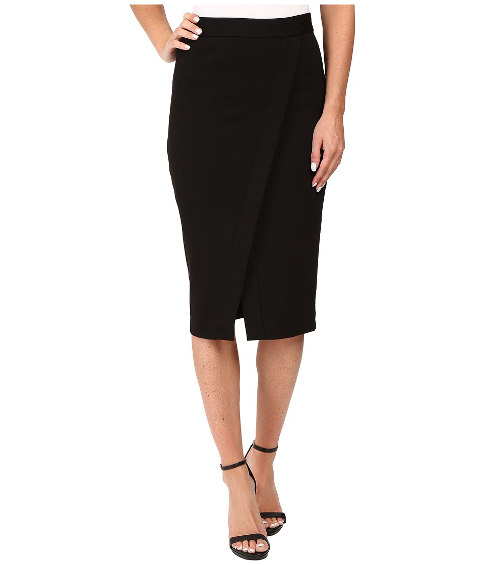 MICHAEL Michael Kors - Asymmetrical Faux-Wrap Skirt (Black) Women's Skirt
