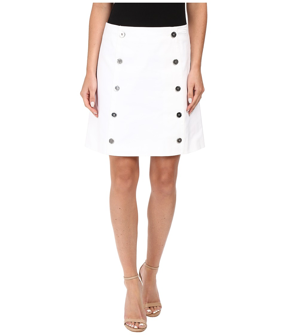 MICHAEL Michael Kors - Button Detail Mini Skirt (White) Women's Skirt