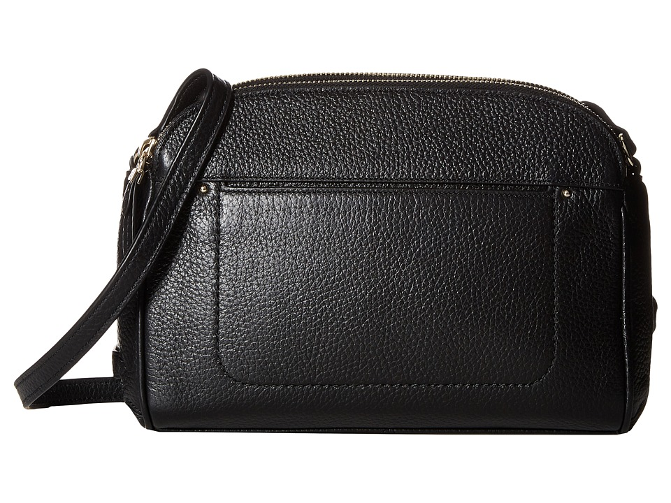 Cole Haan - Tali Double Zip Crossbody (Black) Cross Body Handbags