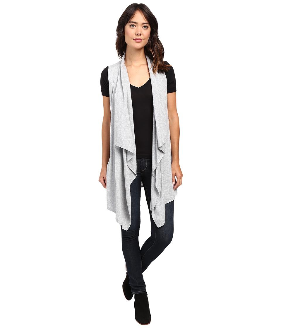 MICHAEL Michael Kors - Drape Front Vest (Pearl Heather) Women's Vest