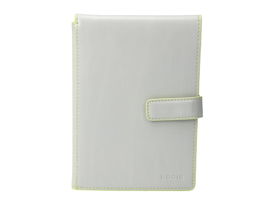 Lodis Accessories - Audrey Passport Wallet w/ Ticket Flap (Dove/Lime) Checkbook Wallet
