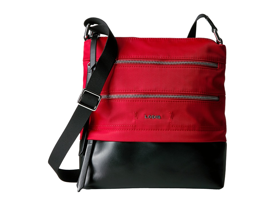 Lodis Accessories - Kate Nylon RFID Under Lock Key Wanda Travel Crossbody (Red) Cross Body Handbags