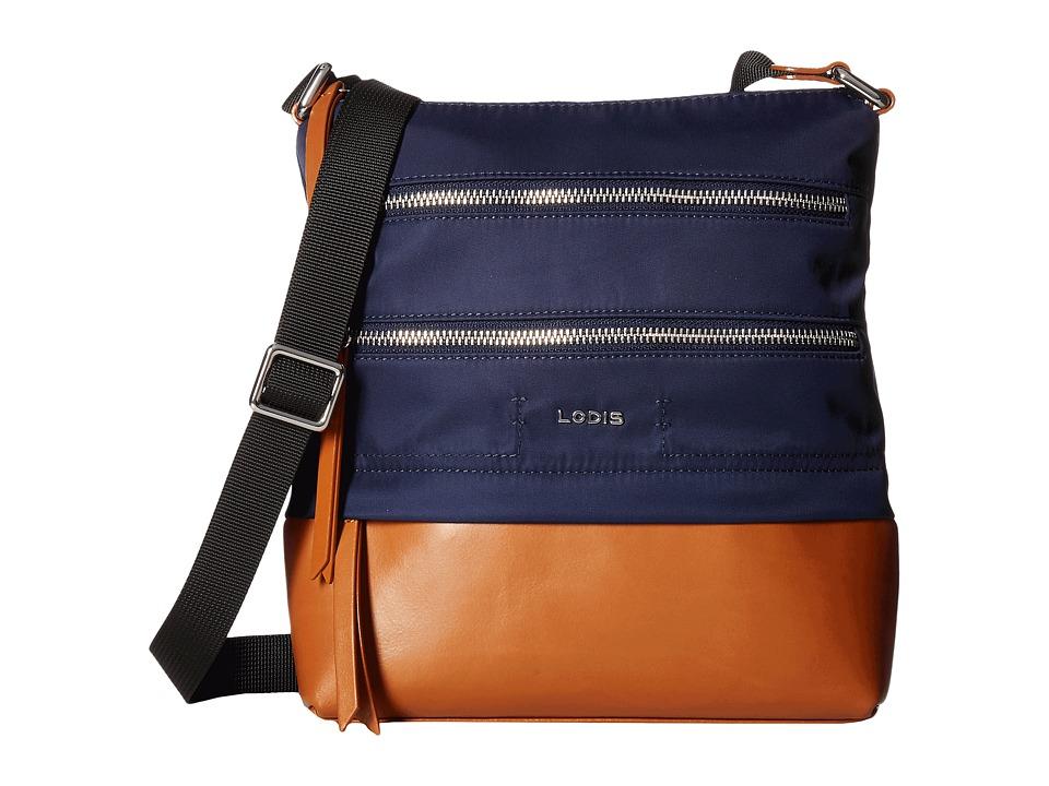 Lodis Accessories - Kate Nylon RFID Under Lock Key Wanda Travel Crossbody (Navy) Cross Body Handbags