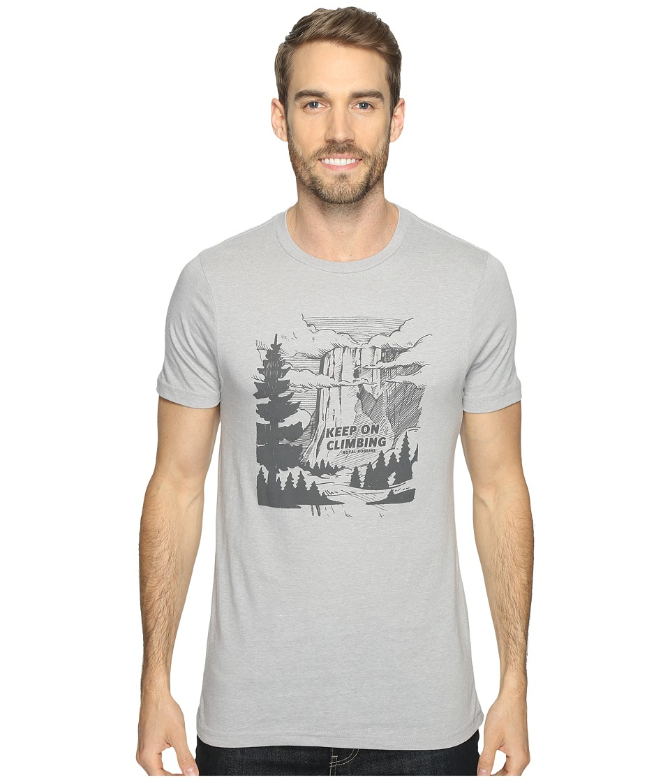 Royal Robbins - Keep on Climbing Tee (Charcoal) Men's T Shirt